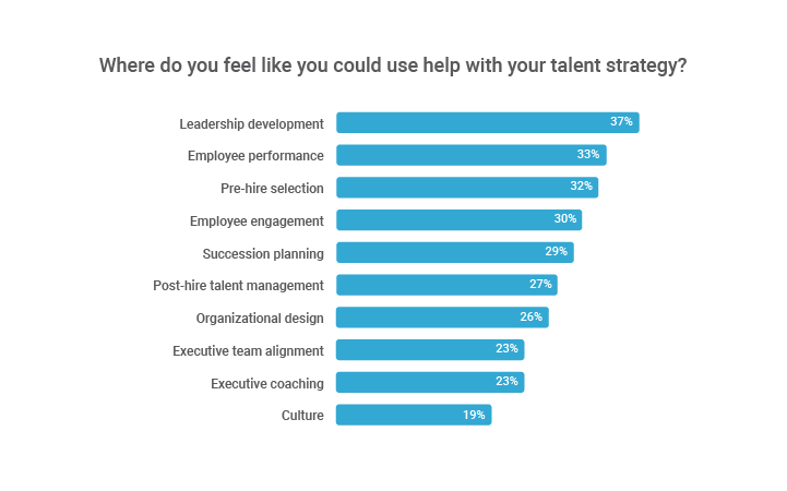 Where CEOs need help with talent strategy